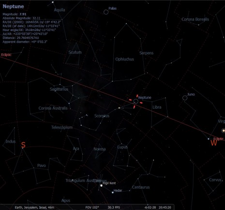 Israel, 1mar7bc, 645am-sunrise, Neptune in Scorpio (without ground)