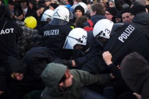 1000 injured in nuclear protests, police at breaking point